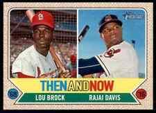 2017 Topps Heritage Then and Now Lou Brock / Rajai Davis #TAN-13