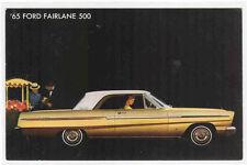 Ford Fairlane 500 1965 advertising postcard