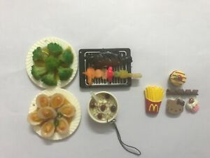 New Dollhouse miniature food breakfast lunch 9 pieces 1:6-1:12 scale
