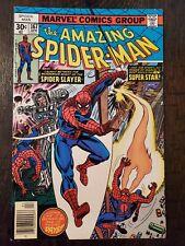AMAZING SPIDER-MAN #167 1977 VF-/VF+ 1ST APP OF WILL O' THE WISP & DR HAMILTON!!