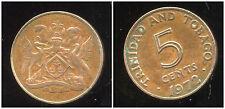TRINIDAD ET TOBAGO    5  cents  1972  ( bis )