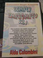 Also Colombini DVD Simply Impromptu Vol.1 Colombini Magic Presents