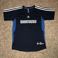Vintage NIKE DALLAS MAVERICKS OFFICIAL WARM UP SHOOTING SHIRT JERSEY Boys M