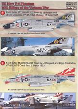 Print Scale Decals 1/72 U.S. NAVY F-4 PHANTOM II MIG KILLERS of the Vietnam War
