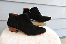 Women's Sam Edelman Petty Ankle Boots Black Suede Size 13M