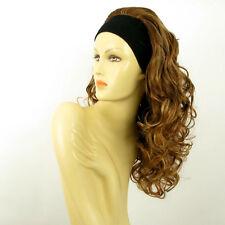 headband wig long curly brown blond copper wick clear  BUTTERFLY 6BT27B