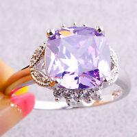 Handsome Tourmaline & White Topaz Gemstones Silver Jewelry Ring Size N P R T V Y