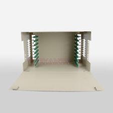 """19"""" 96 core Optical Fiber Distribution Frame ODF Port Rack Fiber Patch Pane"""