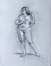Life Drawing Female Model  by Keith Gunderson
