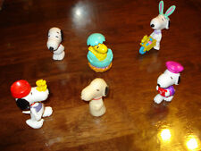 SNOOPY & FRENDS ~ LOT #6 ~ 6 SMALL FIGURES ~ EXCELLENT CONDITION ~  LQQK