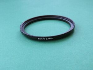 62mm to 67mm Stepping Step Up Male-Female Filter Ring Adapter 62mm-67mm