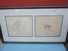 HAL AMBRO (2) FLINTSTONES Animation Drawings FRAMED