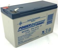 Power-Sonic Ps-1270 F1 Sealed Rechargeable Battery 12V 7.0 Amp Hr. General Use