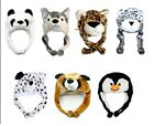 New Cartoon Animal Winter Hat Fluffy Plush hat Warm Cap Beanie