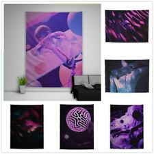 Trippy Psychedelic Abstract Purple Tapestry Art Wall Hanging Cover Home Decor