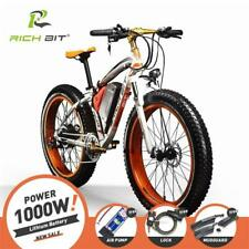 Fat Tire Electric Mountain Bike 48V 17AH 1000W 21 Speed Electric Snow Bicycle