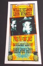 +/ Willie Nlson-Leon Russell Hawaii Concert Handbill/Card-Arminski Artwork