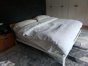 King Platform Bed MIN BED from DWR Wooden Oak Headboard