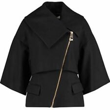 Versace Collection Asymmetric Zip Wollen Coat Jacket Sizes UK 12,14  RRP £595 BN