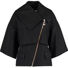 Versace Collection Asymmetric Zip Wollen Coat Jacket Sizes UK 12,14  RRP £595 BN