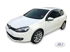 VW GOLF mk6 3-doors 2009-up Front wind deflectors 2pc TINTED HEKO