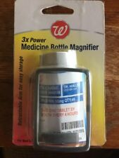 Walgreens 3x Power Medicine Prescription Bottle Magnifier NEW 497125