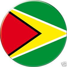 5 x sticker 5cm auto moto velo valise pc portable drapeau Rond Guyana
