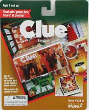Basic Fun unopened Key Chain mini Clue game