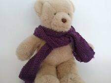 Teddy Bear Clothes, Handknitted Purple Scarf
