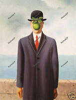 The Son of Man Oil Painting Rene Magritte Hand-Painted Art Repro Canvas 24x32 #2