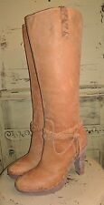 COLE HAAN G SERIES SOFT NUBUCK LEATHER HIGH HEEL RIDING BOOTS NIKE AIR 7.5 M
