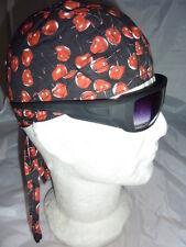 "zandana bandana "" cerise fond noir "" biker,harley usa, country,moto, lady, baby"