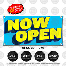 Now Open Banner Sign Display Store Shop Restaurant Pawn Boutique Comic Arena New
