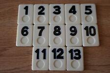 Cardinal 1999 Rummy-O Game Set of 13 Replacement Black Tiles