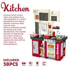 Kitchen Play Set Pretend Baker Kids Toy Cooking Playset Girls Food Gift Presents