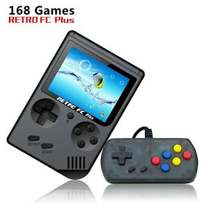 """Retro FC Plus Handheld Game With 168 Built In Games 3"""" Colour Display New UK"""