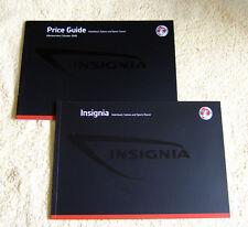 Vauxhall New Insignia Range October 2008 & Price guide. SE, Elite, SRi