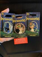 3 LE Pocahontas 25th Anniversary Pins- Meeko, Grandmother Willow, Spinner