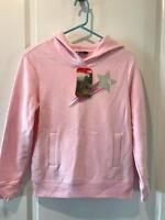 The North Face Girls Logowear Pull Over Hoodie NWT sweatshirt Coy Pink