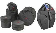 "SKB 1SKB-DBS1 5-Piece Drum Soft Bag Travel Cases+ SKB 22"" Cymbal Vault Hard Case"