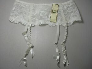 Felina Lingerie Vintage 90's Lace Bridal White Garter Belt #2579 P