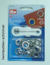 PRYM Ösen mit Scheiben Öse 11mm silber 541370