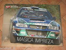 # POSTER MARKKU ALEN SUBARU IMPREZA WRC RALLY COSTA SMERALDA 2001 CM.70X54 AC13