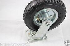 "8"" KNOBBY SWIVEL WHEEL OUTDOOR TERRAIN ROUGH SURFACE RUBBER TIRE CASTER"