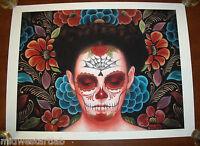 Sylvia Ji Art Print Flor Eterno S/# 50 Muertos Day of the Dead Skull Poster