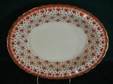 "Spode Fleur de Lys Red Y7481 Bone China Oval 9 3/4"" Serving Bowl(s)"