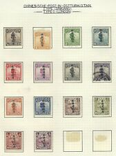 China Sinkiang mint and used collection on album pages