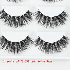5Pairs Mink Natural Thick Extension False Fake Eyelashes Eye Lashes Makeup YK