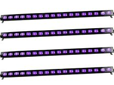 4 x Ibiza Light UV BAR 18 x 3W LED Batten Ultraviolet Blacklight DJ Disco Pack
