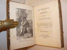POESIA - Tomas de YRIARTE, LA MUSICA Poema 1784 Madrid SPAGNA TAVOLE Incise